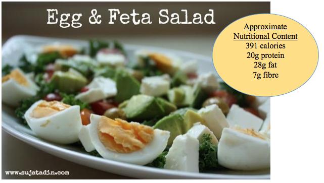 egg, feta, salad