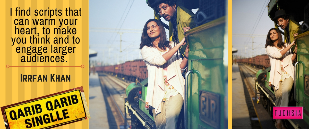 Parvathy Menon and Irrfan khan on a train