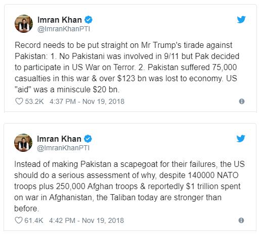 Trending Imran Khan Donald Trump