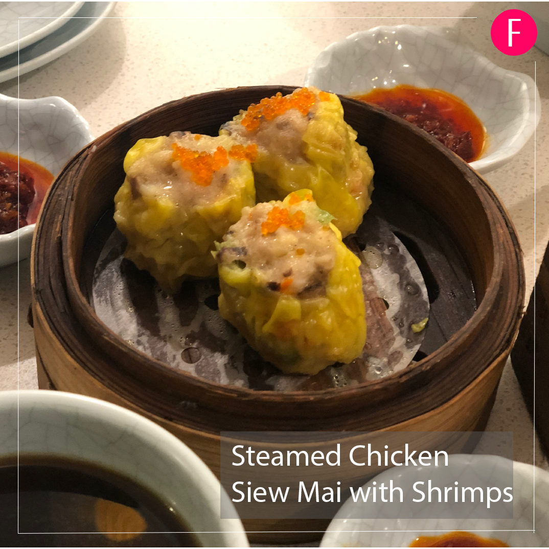 steamed chicken siew mai with prawns, dim sum singapore, halal chinese