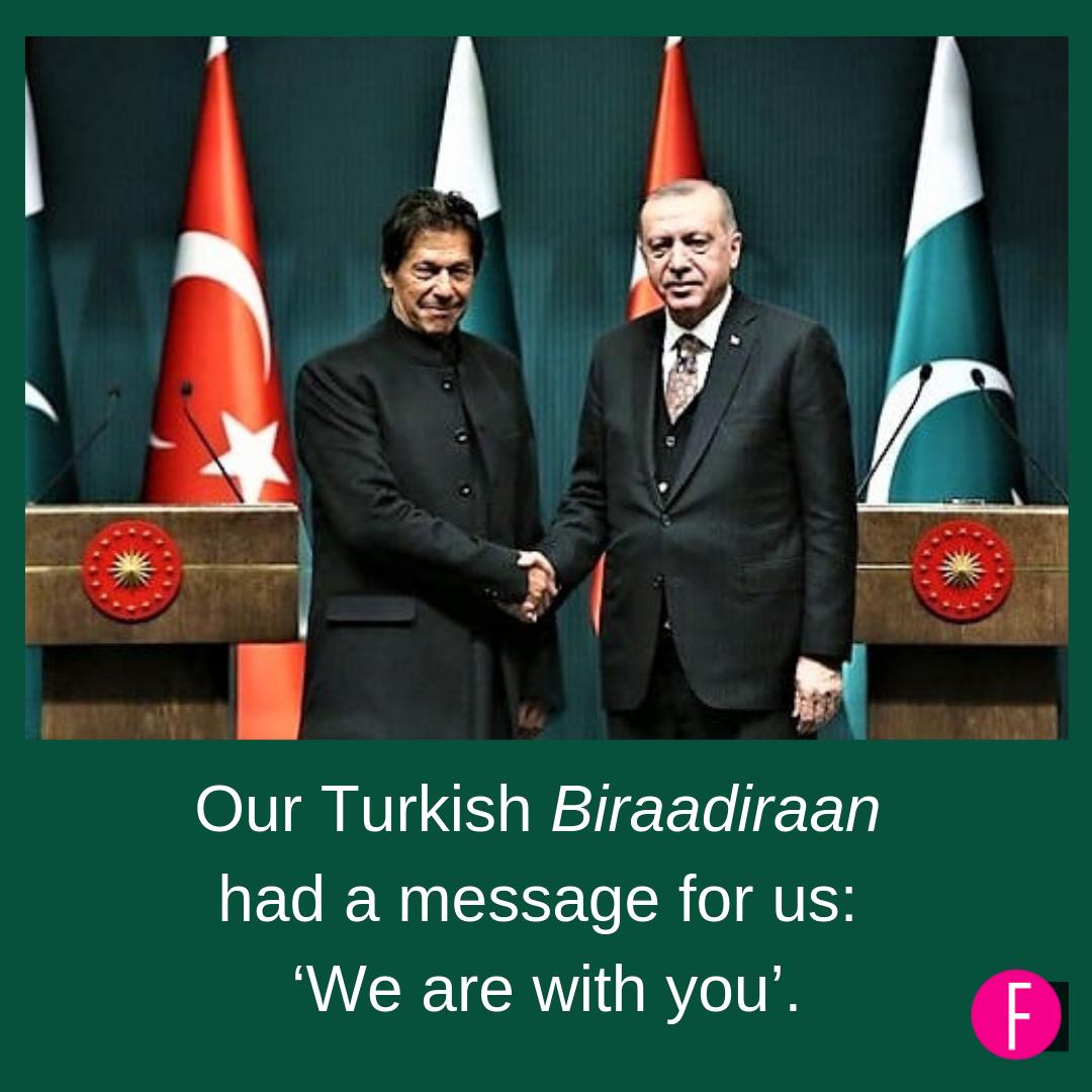 Pakistan, Turkey, India