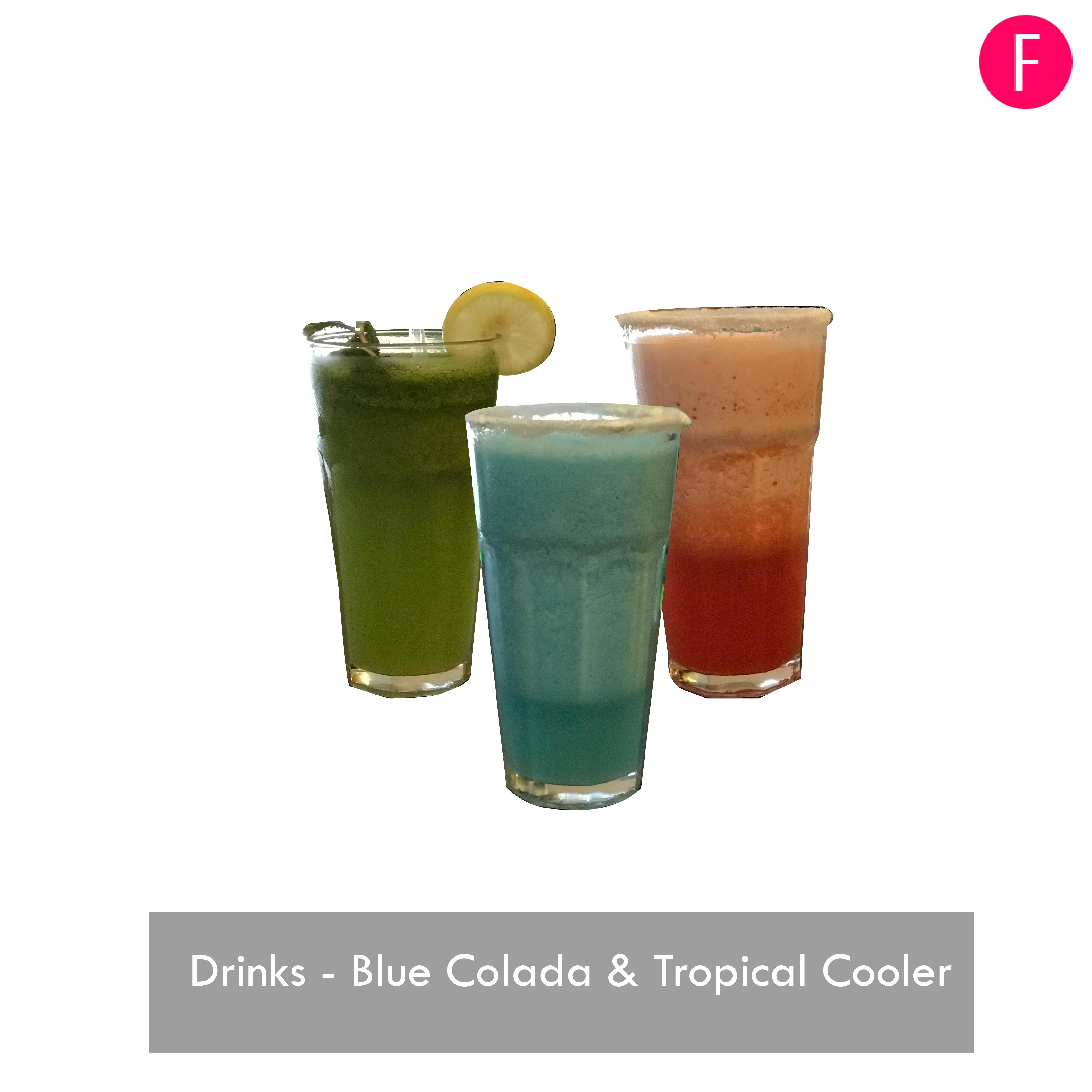 Blue Colada, Tropical Cooler, Vintage Cafe, Cafes in Karachi, Summer Drinks