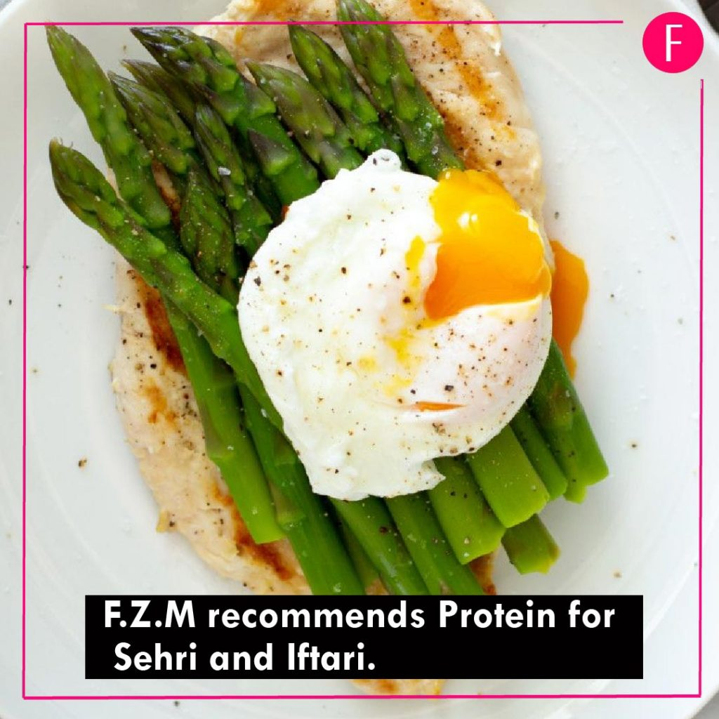 Ramazan 2019, fitness tips, F.Z.M, Protein is essential, sehri and iftari.