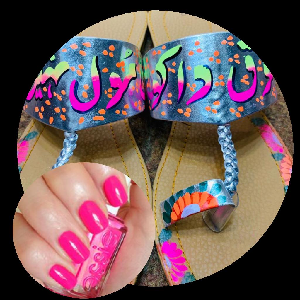 Blue Chapals, Khussa Chapals, Pakistani footwear, Truck Art Chapals, Truck Art, Eid Shopping