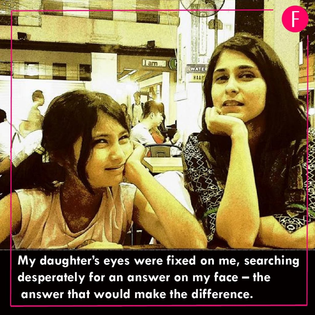Mothers day 2019, Mothers day article. Mother and daughter, my daughters eye were fixed on me.