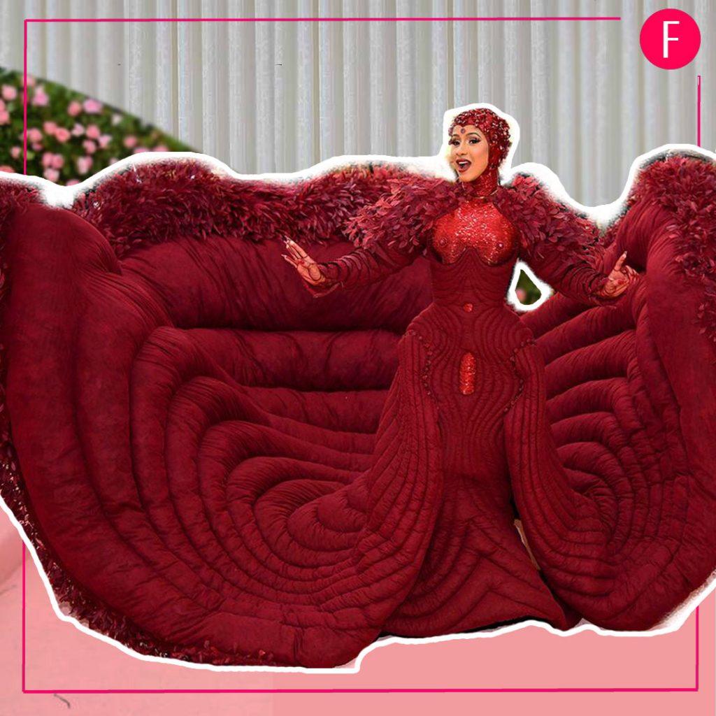 Cardi B,Met gala 2019, Cardi B gown