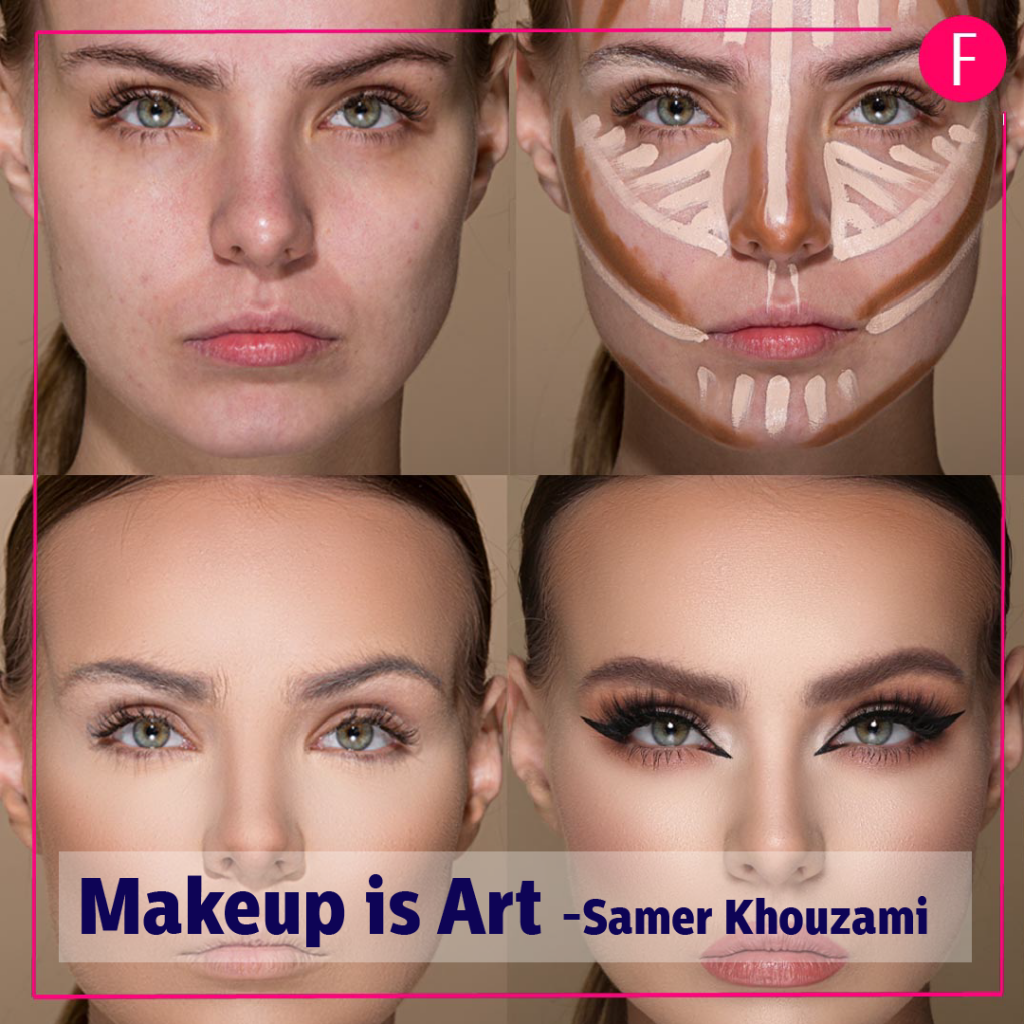 make up is art, samer Khouzami, contour and highlight, makeup 2019, makeup artists.