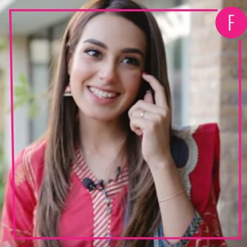 Iqra Aziz on the sets of Suno Chanda 2, Jiya & Arsal, Ajiya