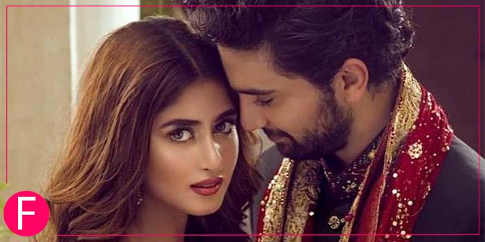 Romance is in the air with the power couple Ahad and Sajal posing