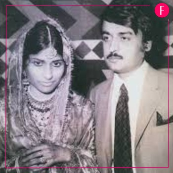 Anwar Maqsood on his wedding day with wife Imrana Maqsood!