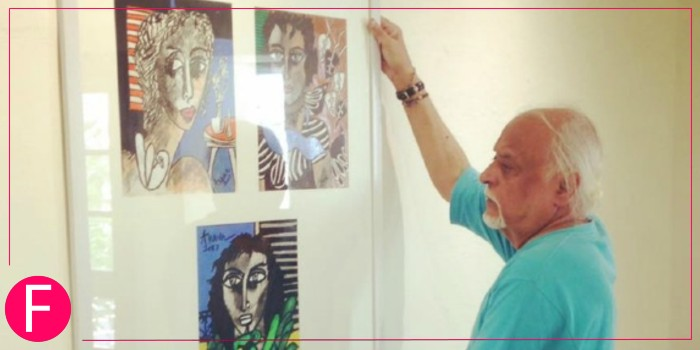 Anwar Maqsood Showcasing His Art