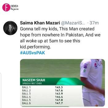 Naseem Shah debut, test debut, AusvsPak