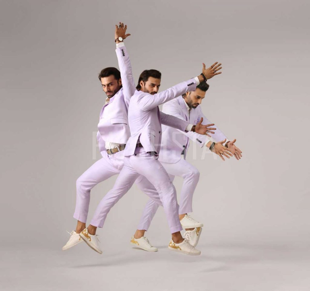 Deepak & fahad, Pastel suits for men