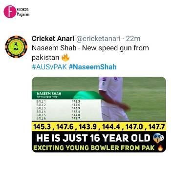 naseem Shah bowling figures