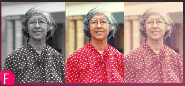 Ms. AIleen Soares, Lady in red polka dotted dress, old lady in red dress