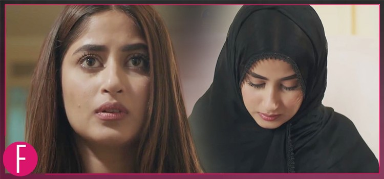 Sajal Ali, Momina, girl in black dupatta, head covered