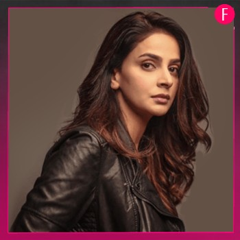saba Qamar, Girl in black leather jacket