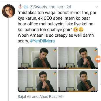 Amaan, Aina, Ahad Raza Mir tweet