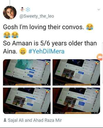 Amaan, Aina, Yeh Dil Mera tweets