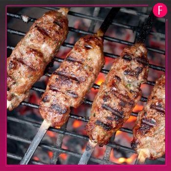 bbq, seekh kebab