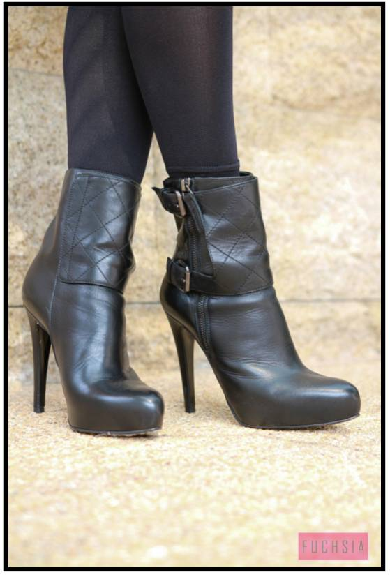 girly, stiletto boots, black