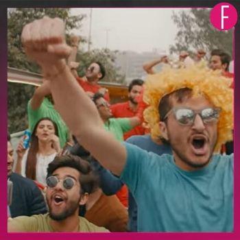Yellow hair, cricket fans celebrating