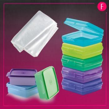 tupperware, plastic bags