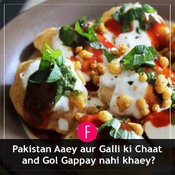 Pakistan street food, gol gappy