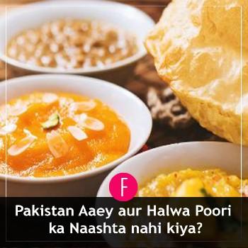 Halwa Poori, nashta