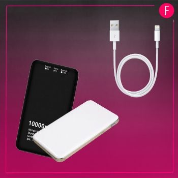 power bank, cable