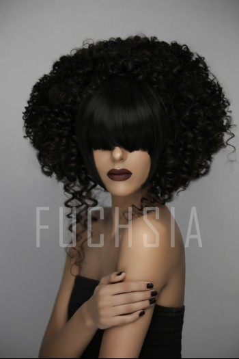 Nimra, big hair, dark lips, February