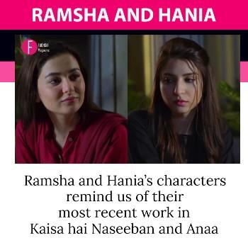 Ramsha & Hania in Ishqiya