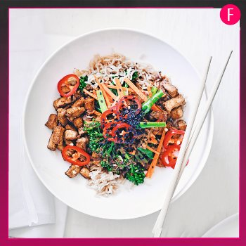 tofu rice bowl, recipe