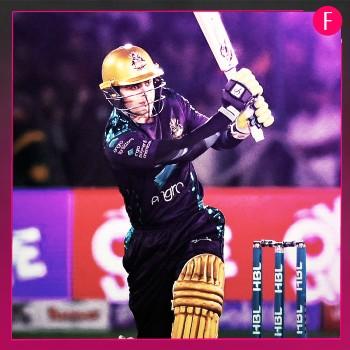 Cricketer batting