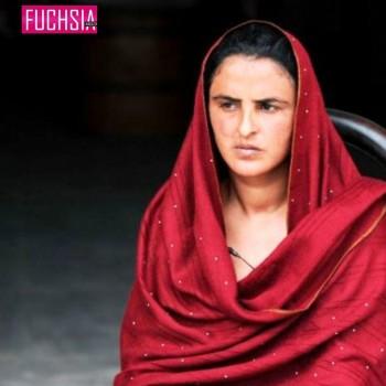woman in red chaadar