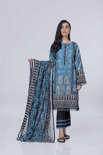 Kurta pajama dupatta in blue