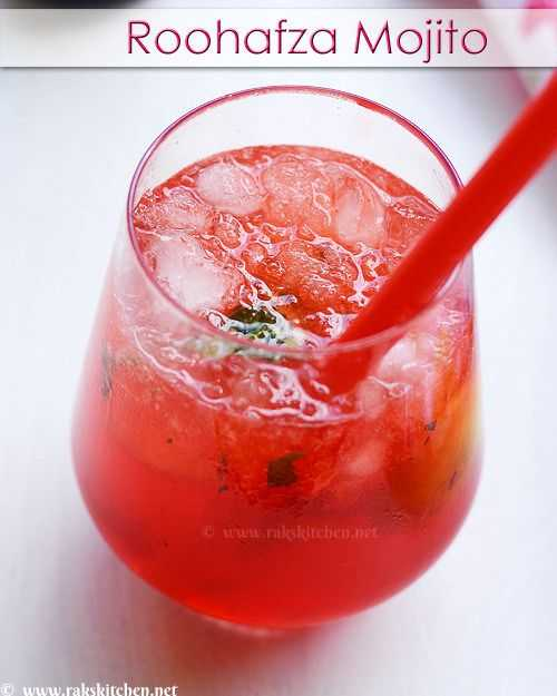 Rooh Afza Mojito, Rooha Afza drinks,