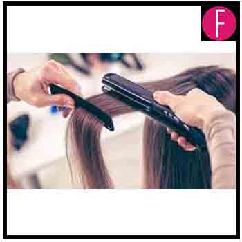 straighten iron hair