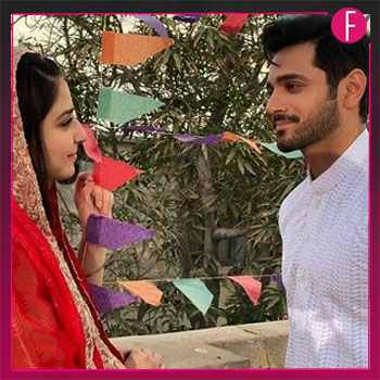 couple, ghisi piti mohabbat, ary, gazing, bride, groom, ramsha khan, wahaj ali