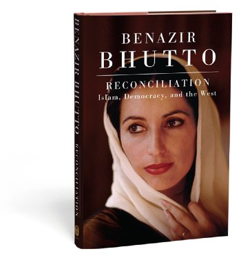 reconcilation, benazir bhutto, book, mumtaz mustafa designs