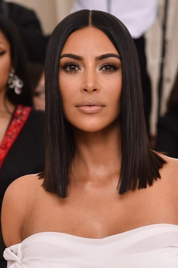 kim kardashian, kim k, kkw, hairstyle, medium length hair, one length, short hair, hairstyle, 2020