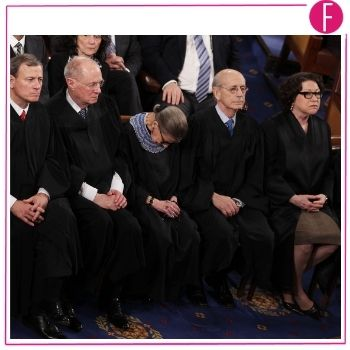 ruth bader, sleeping, court, state of union