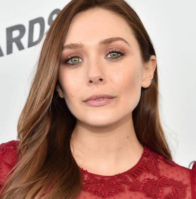 elizabeth olsen, neutral look, neutral makeup