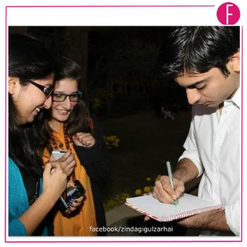 fawad khan with fans