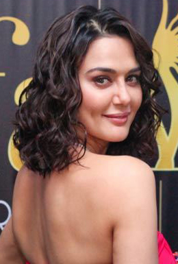 priety zinta, layered curls, short length hair, short hair, actress