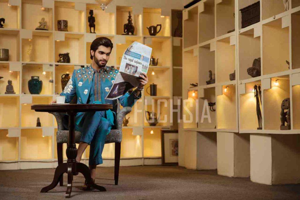 photoshoot, designer wear. menswear, fashion, style inspo, fashion inspo, blue and white, shalwar kameez, kurta kameez,  lollywood, pakistani fashion