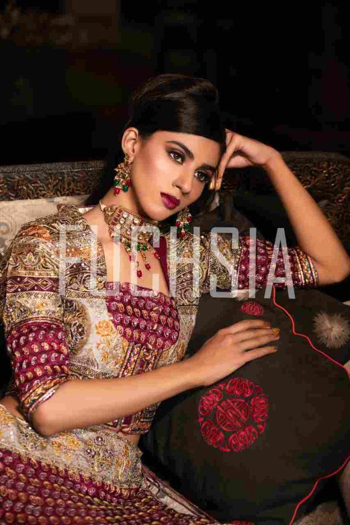 bridal shoot, bridal wear, women clothing, Kausar sajjad, Jaweria ali, model, covershoot, traditional jewelry, silk
