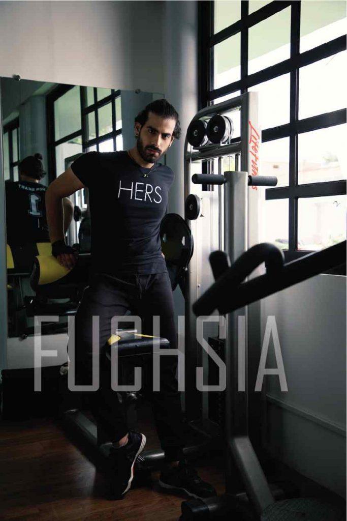gym, workout, gym stle, fashion, pool, model, shoot, javerya hanif, aakash khan, furor, brand