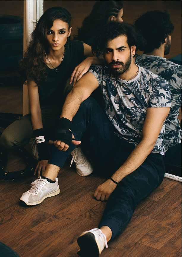 gym, workout, gym stle, fashion, pool, model, shoot, javerya hanif, aakash khan, furor, brand, couple shoot