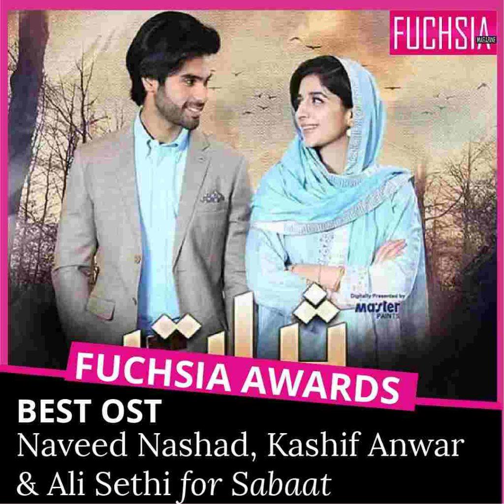 sabaat, fuchsia awards, ameer gilani, mawra hocane, ali sethi, hum tv, best OST